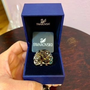 Swarovski Mini chic Crystal and Gold Ring